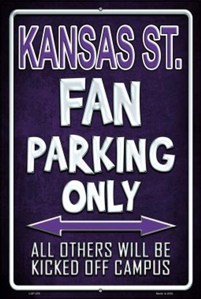 Kansas State Wholesale Metal Novelty Large Parking Sign LGP-279