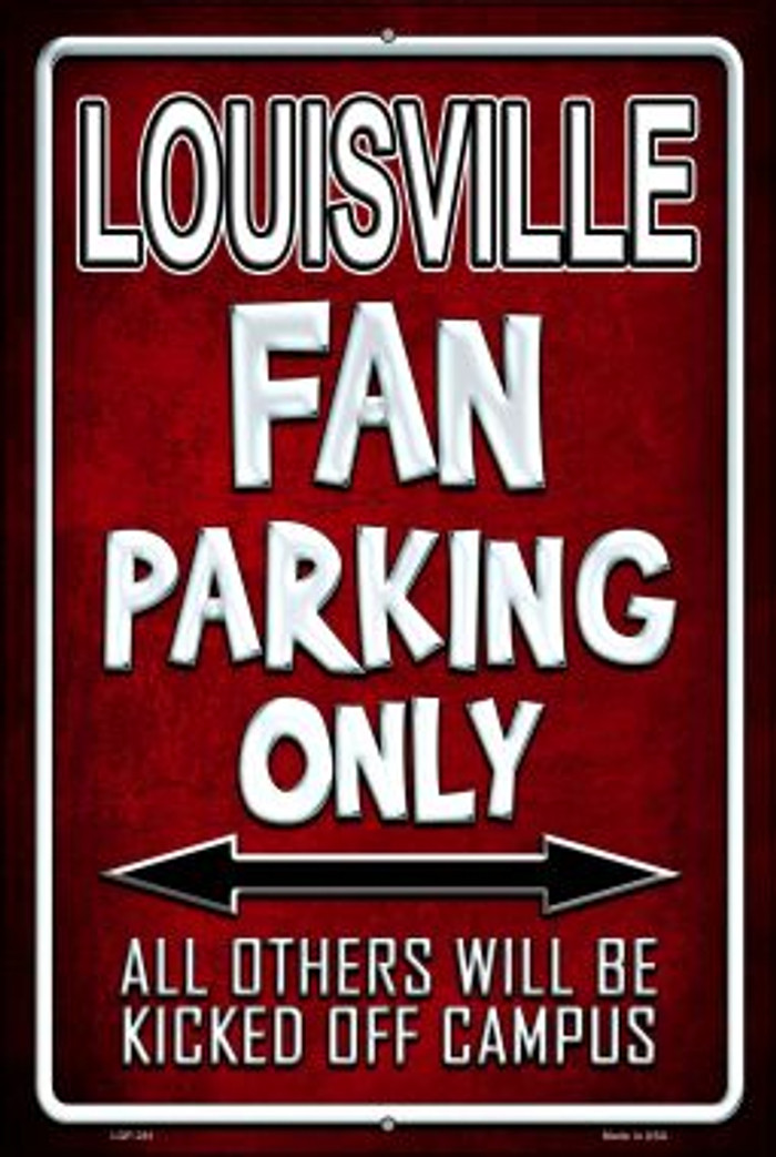 Louisville Wholesale Metal Novelty Large Parking Sign LGP-281