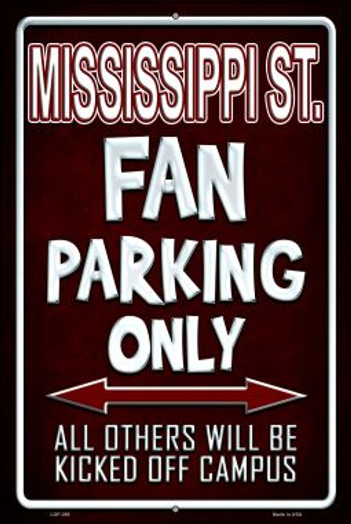 Mississippi State Wholesale Metal Novelty Large Parking Sign LGP-289