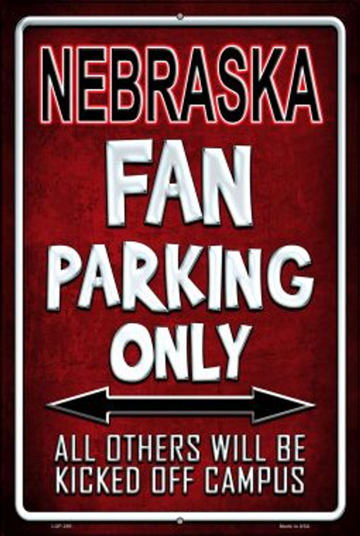 Nebraska Wholesale Metal Novelty Large Parking Sign LGP-290