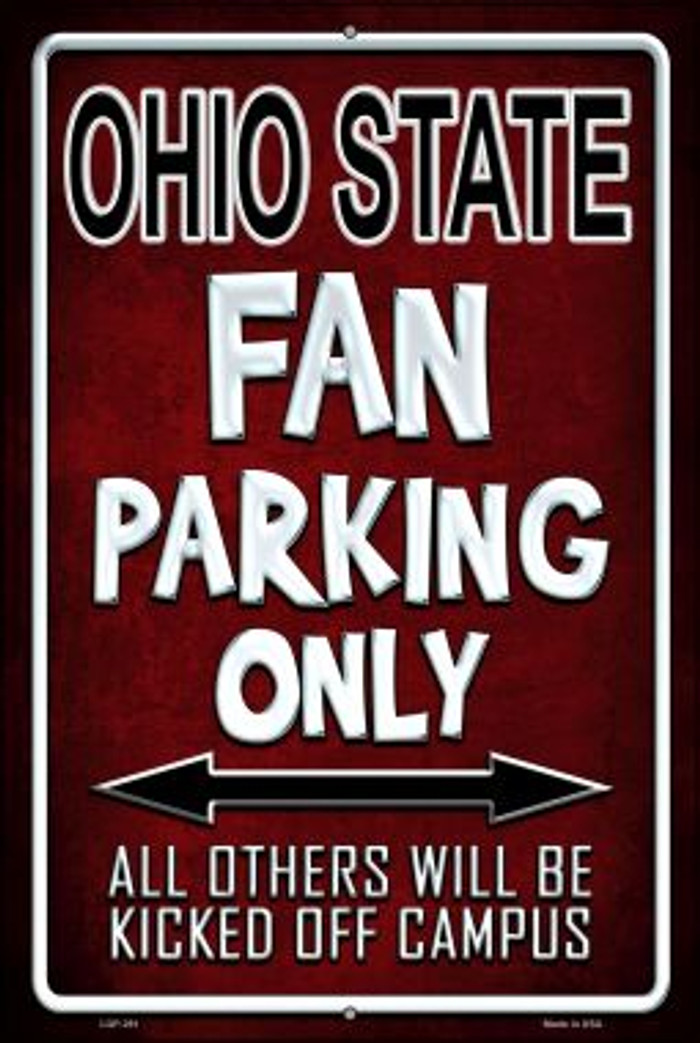 Ohio State Wholesale Metal Novelty Large Parking Sign LGP-291
