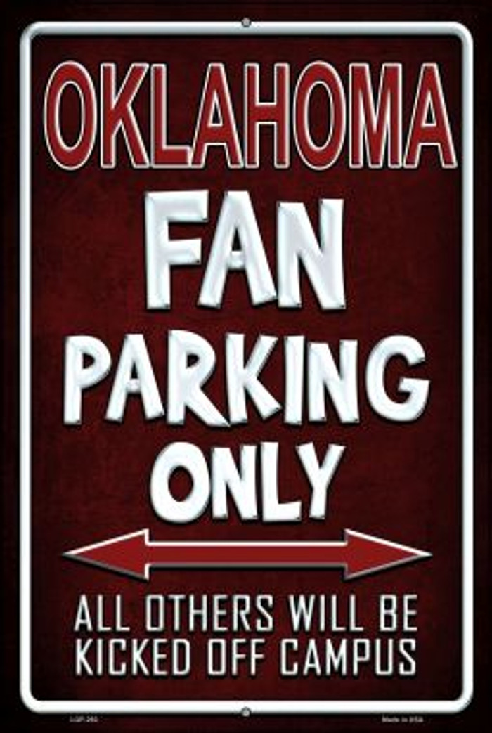 Oklahoma Wholesale Metal Novelty Large Parking Sign LGP-292