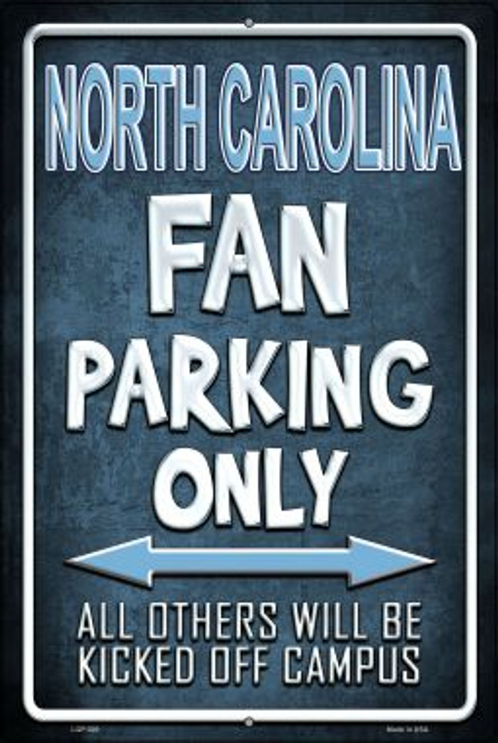 North Carolina Wholesale Metal Novelty Large Parking Sign LGP-300