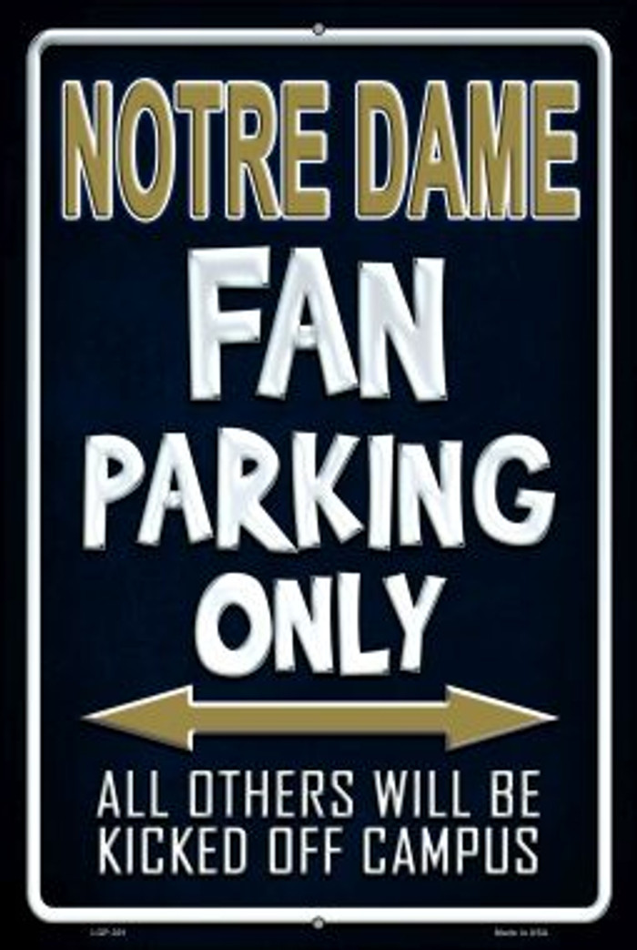 Notre Dame Wholesale Metal Novelty Large Parking Sign LGP-301