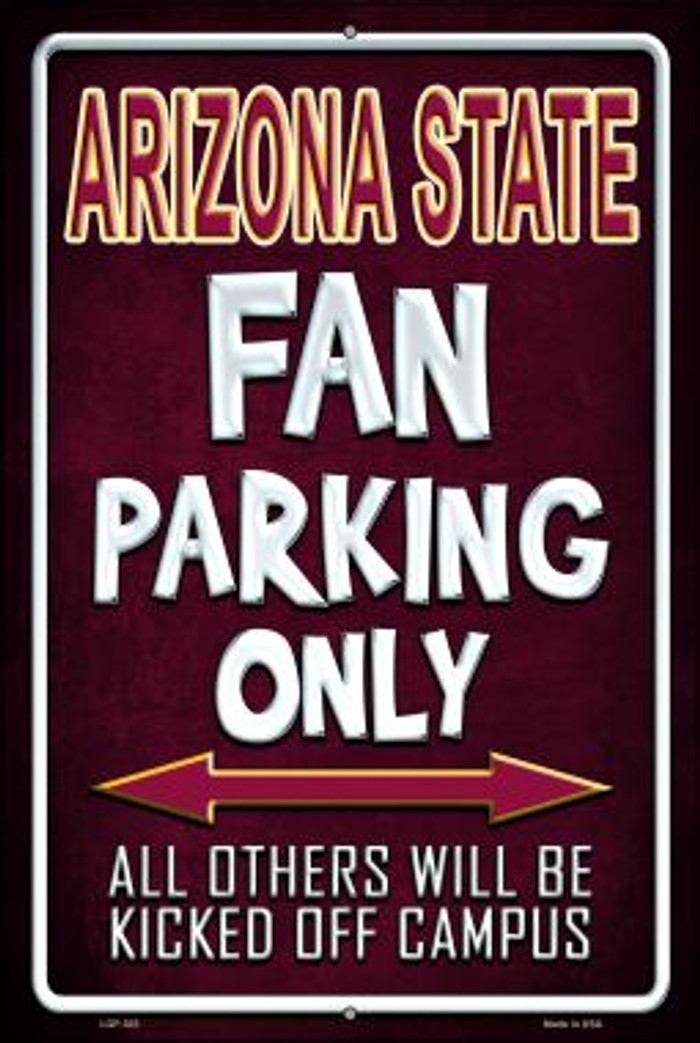 Arizona State Wholesale Metal Novelty Large Parking Sign LGP-303