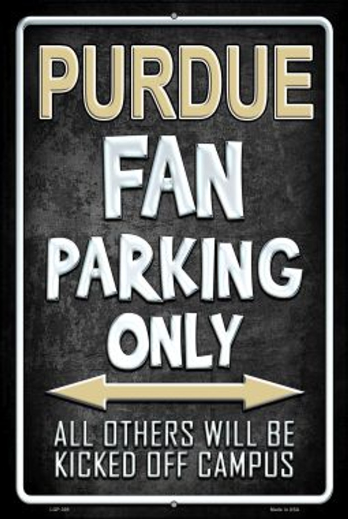 Purdue Wholesale Metal Novelty Large Parking Sign LGP-305