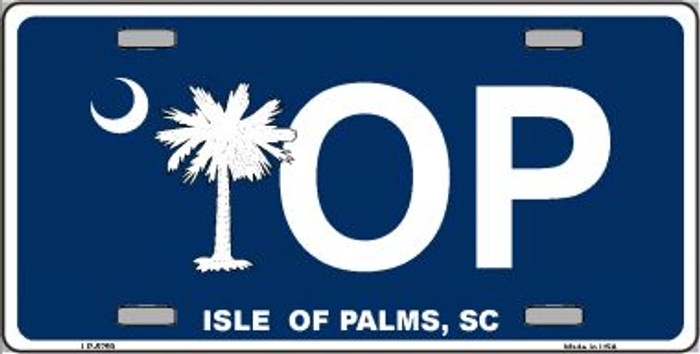 IOP Isle of Palms Blue Wholesale Metal Novelty License Plate LP-5259