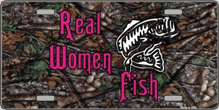 Real Women Fish Wholesale Metal Novelty License Plate LP-5269