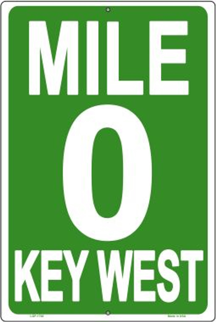 """Key West Mile 0  Metal Sign /"""" Pirate /""""  New   8/"""" x 4.5/"""""""