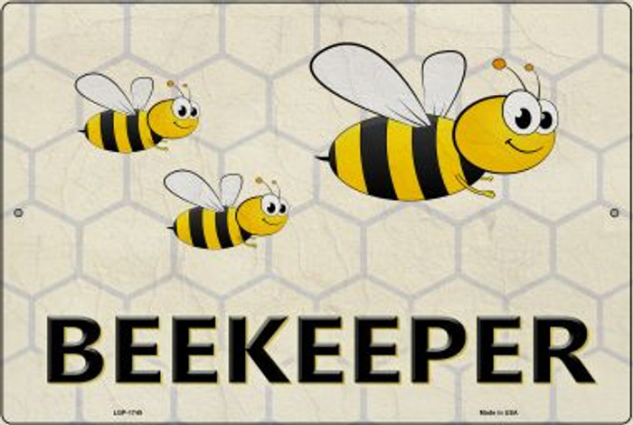 Beekeeper Wholesale Metal Novelty Large Parking Sign LGP-1748