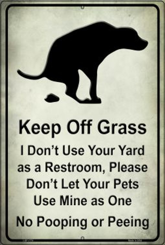 Keep Off Grass Wholesale Novelty Large Parking Sign LGP-1774