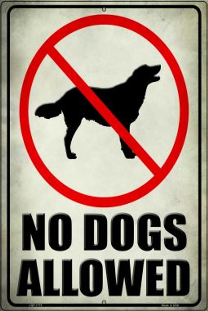 No Dogs Allowed Wholesale Novelty Large Parking Sign LGP-1775