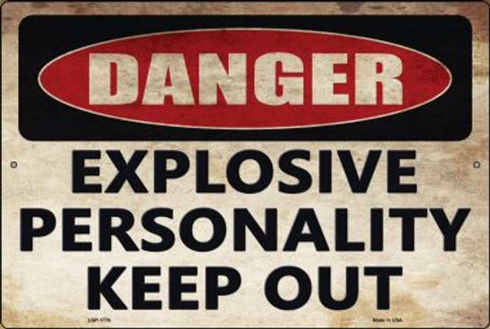 Explosive Personality Wholesale Novelty Large Parking Sign LGP-1779
