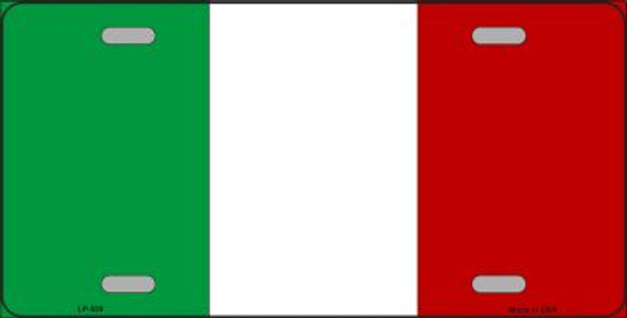 Italy Flag Wholesale Metal Novelty License Plate