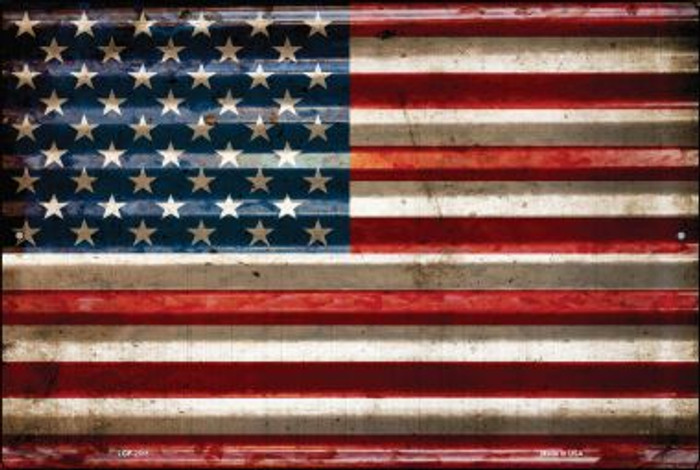 American Flag Wholesale Novelty Large Parking Sign LGP-2311