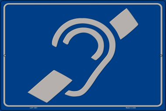Hearing Impaired Wholesale Large Parking Sign LGP-1801