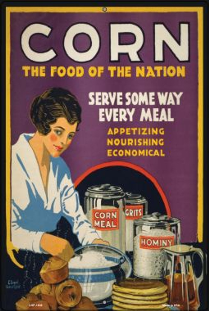 Corn Food of the Nation Vintage Poster Wholesale Large Parking Sign LGP-1838