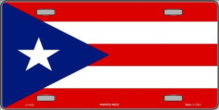 Puerto Rico Flag Wholesale Metal Novelty License Plate LP-530