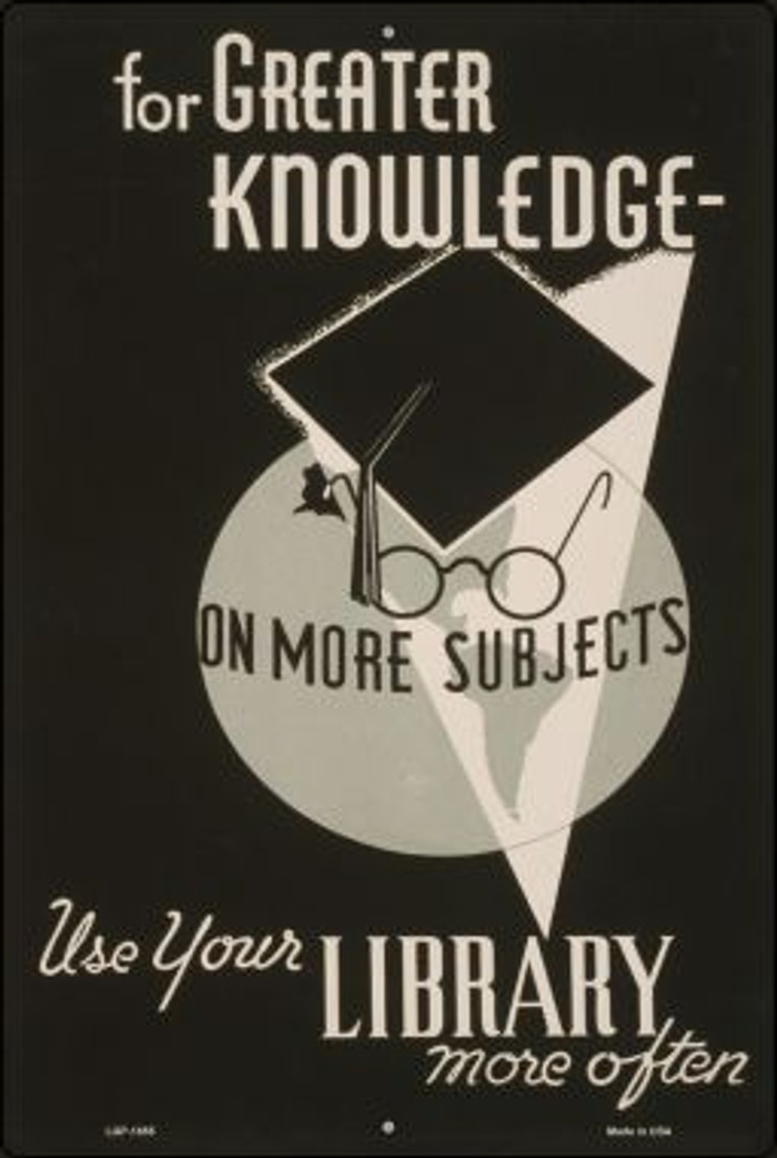 Use Your Library Vintage Poster Wholesale Large Parking Sign LGP-1855