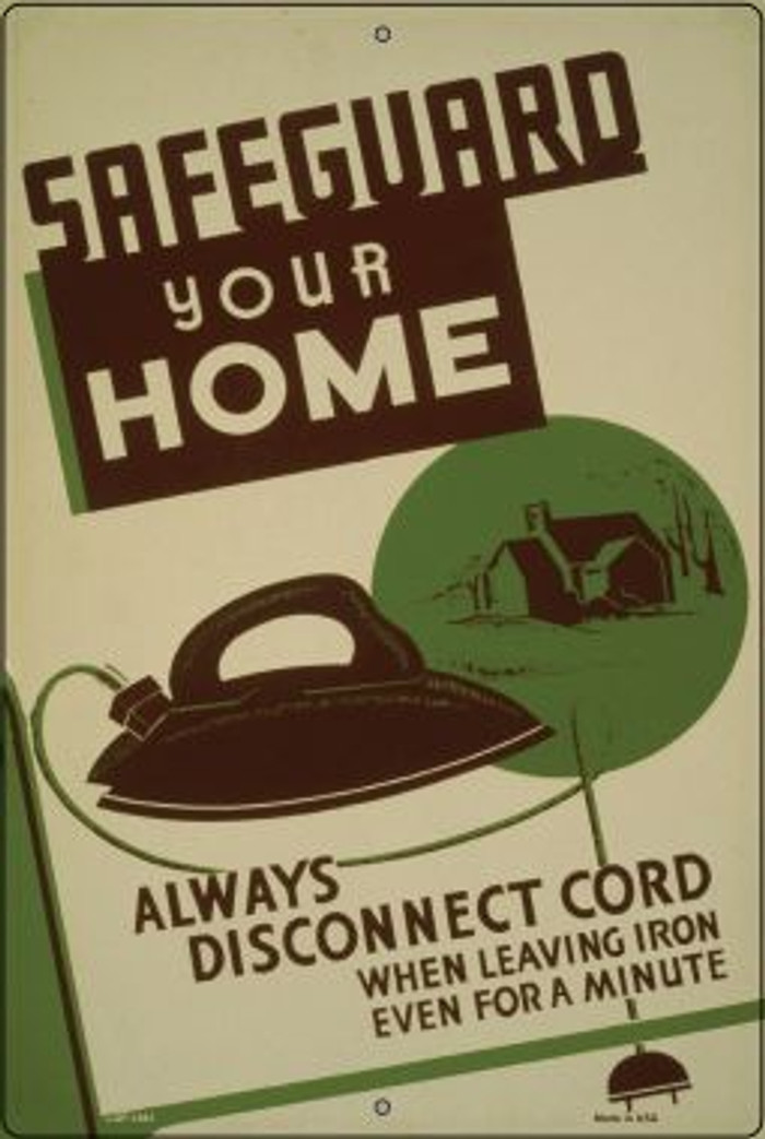 Safeguard Your Home Vintage Poster Wholesale Large Parking Sign LGP-1861