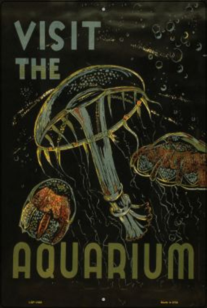 Visit the Aquarium Vintage Poster Wholesale Large Parking Sign LGP-1868