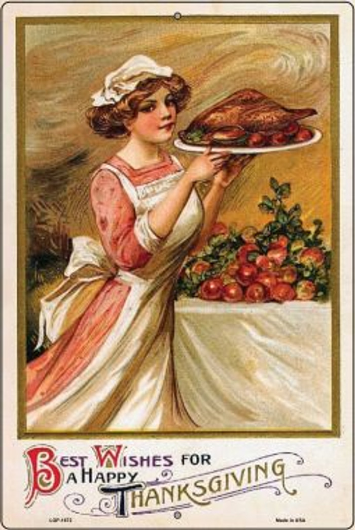 Best Wishes for Thanksgiving Vintage Poster Wholesale Large Parking Sign LGP-1872