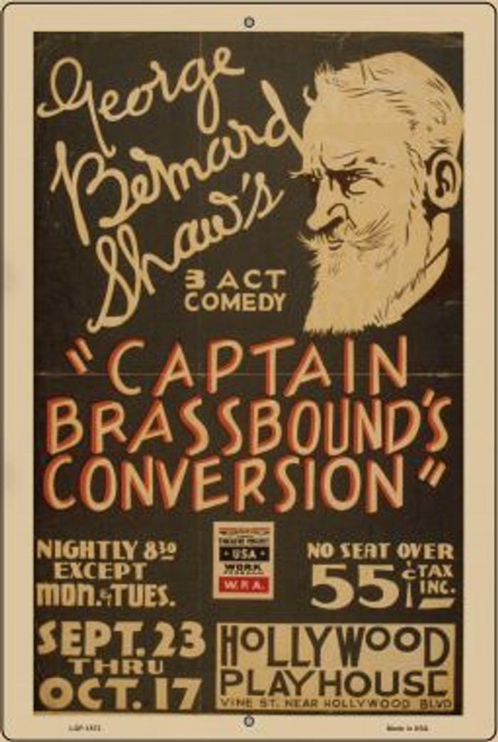 Captain Brasshounds Convo Vintage Poster Wholesale Large Parking Sign LGP-1873