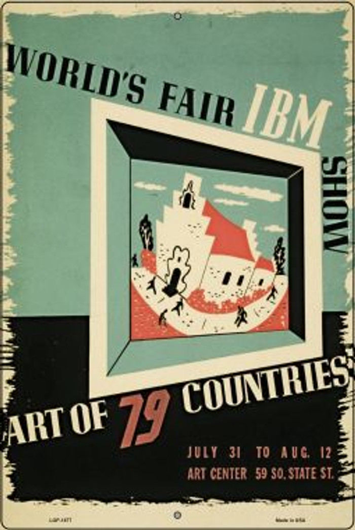 World's Fair IBM Vintage Poster Wholesale Large Parking Sign LGP-1877