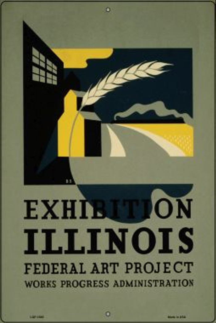Illinois Art Project Vintage Poster Wholesale Large Parking Sign LGP-1885