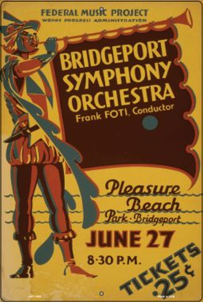 Bridgeport Symphony Orchestra Vintage Poster Wholesale Large Parking Sign LGP-1895
