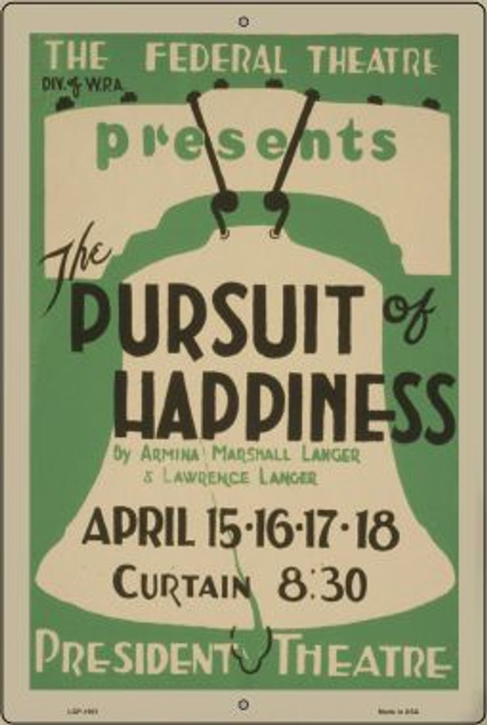 Pursuit of Happiness Vintage Poster Wholesale Large Parking Sign LGP-1901