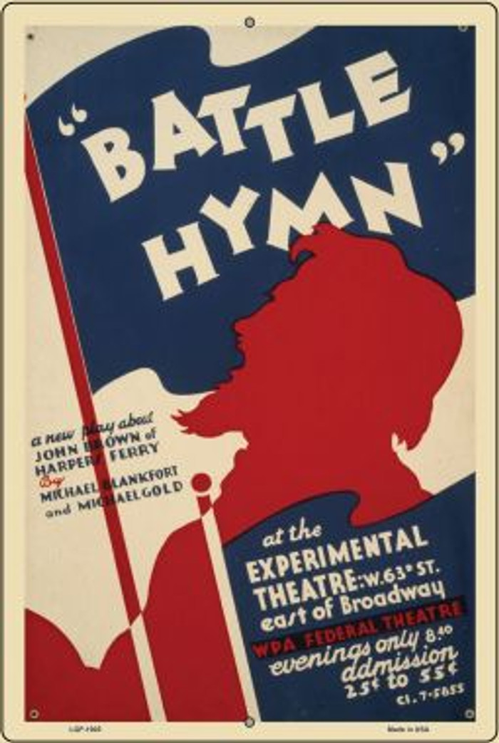 Battle Hymn Vintage Poster Wholesale Large Parking Sign LGP-1905