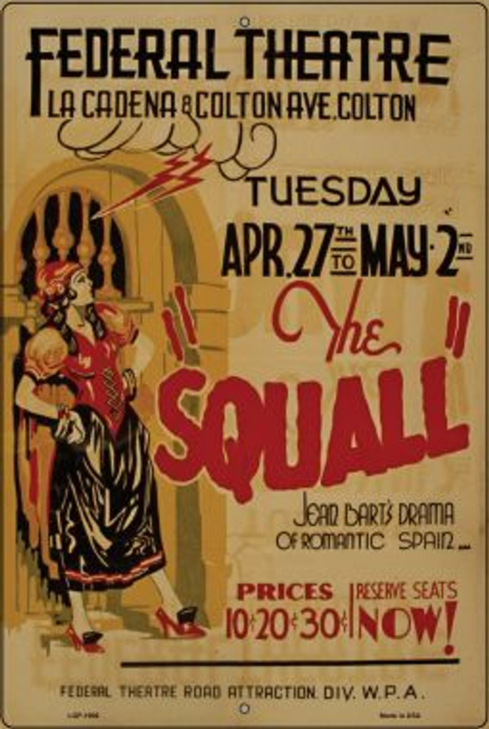 The Squall Vintage Poster Wholesale Large Parking Sign LGP-1906