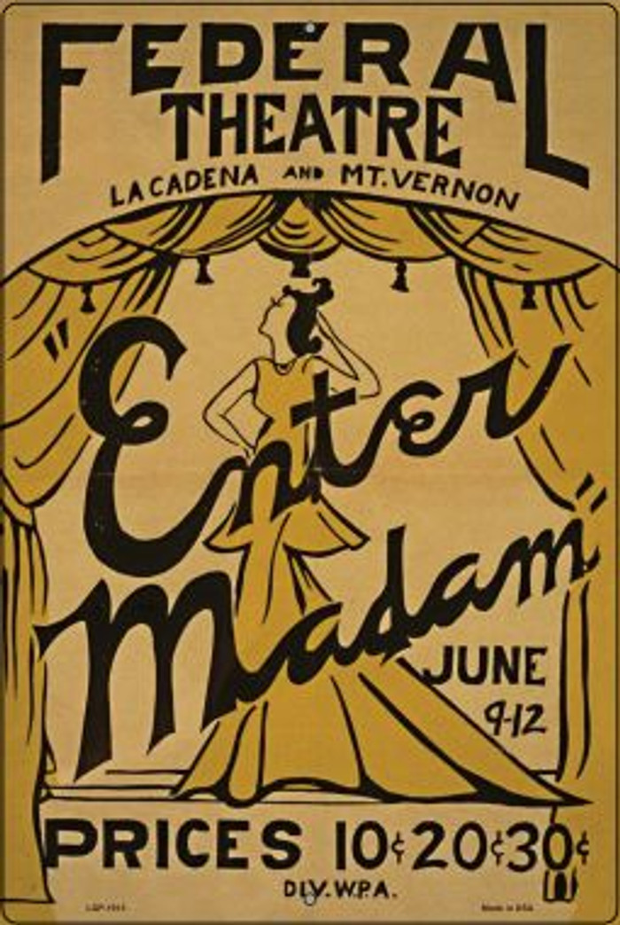 Enter Madam Vintage Poster Wholesale Large Parking Sign LGP-1913