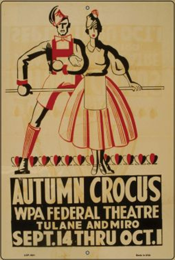 Autumn Crocus Vintage Poster Wholesale Large Parking Sign LGP-1921