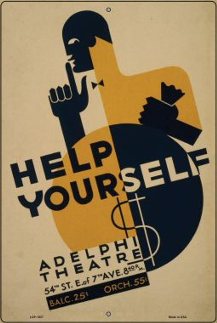 Adelphi Theatre Vintage Poster Wholesale Large Parking Sign LGP-1927