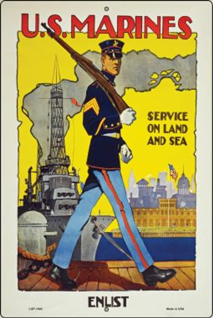 US Marines Vintage Poster Wholesale Large Parking Sign LGP-1940