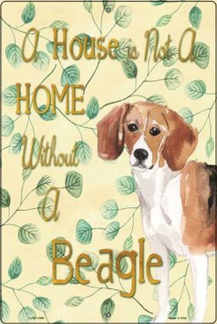 Not A Home Without A Beagle Wholesale Novelty Large Parking Sign LGP-1968
