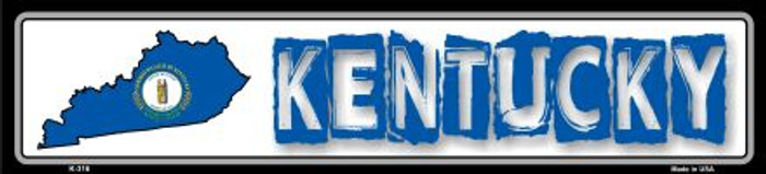 Kentucky State Outline Wholesale Novelty Metal Vanity Mini Street Sign K-316