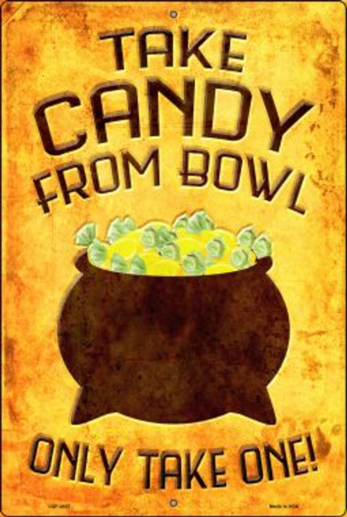 Candy Bowl Wholesale Novelty Metal Large Parking Sign LGP-2437