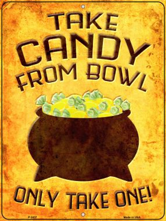 Candy Bowl Wholesale Novelty Metal Parking Sign P-2437