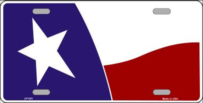 Texas State Flag Waving Wholesale Metal Novelty License Plate