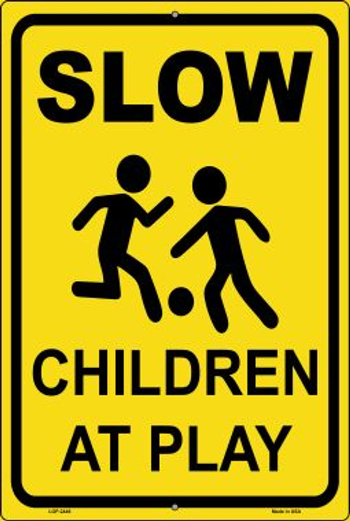 Slow Children At Play Wholesale Novelty Metal Large Parking Sign LGP-2446
