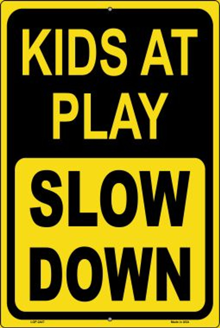 Kids At Play Wholesale Novelty Metal Large Parking Sign LGP-2447