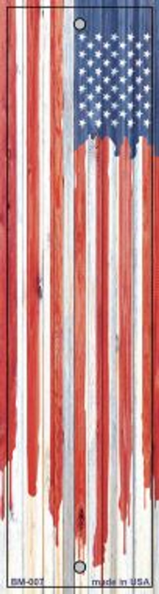 Painted American Flag Wholesale Novelty Metal Bookmark BM-007