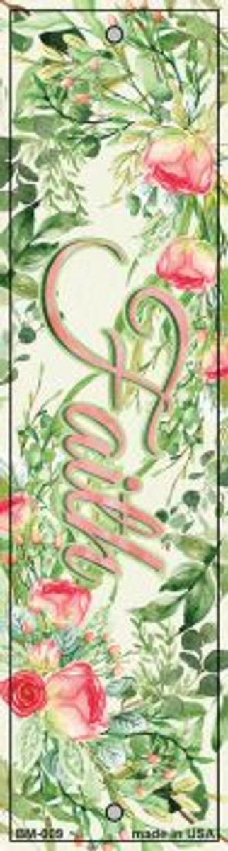 Faith on Flowers Wholesale Novelty Metal Bookmark BM-009