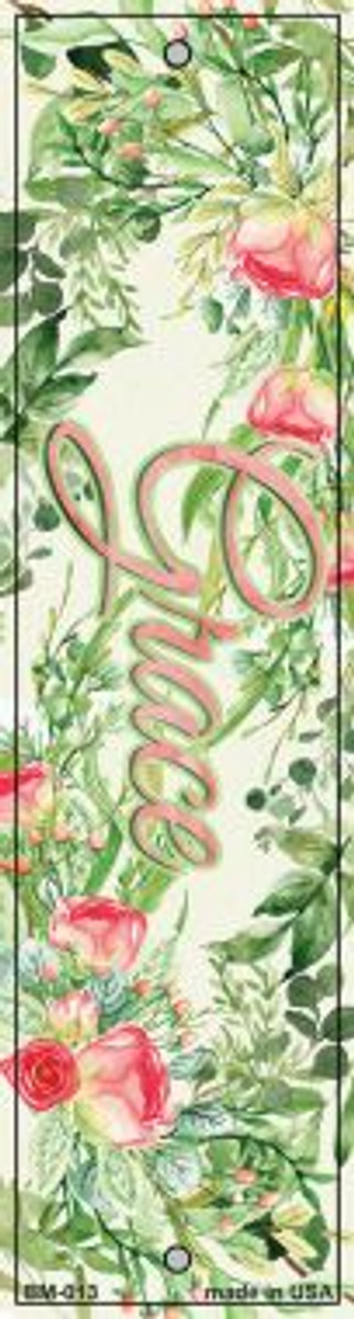 Grace on Flowers Wholesale Novelty Metal Bookmark BM-013