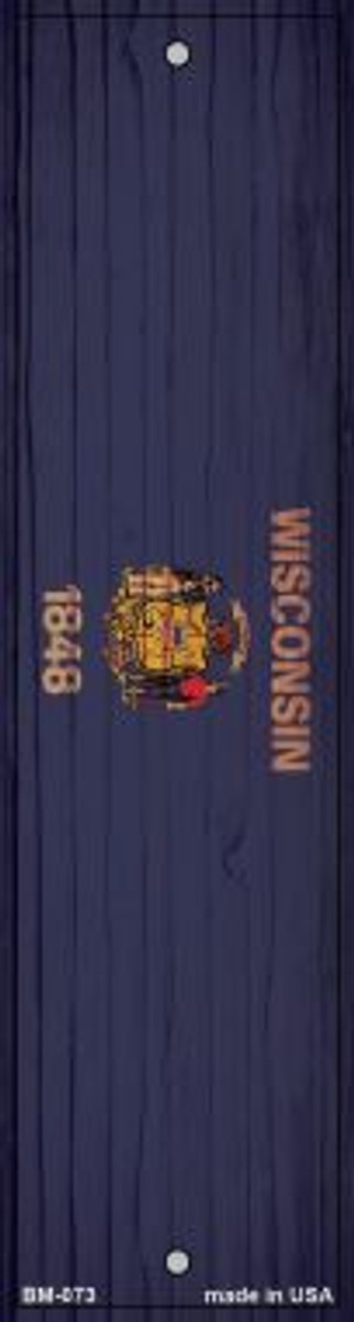Wisconsin Flag Wholesale Novelty Metal Bookmark BM-073