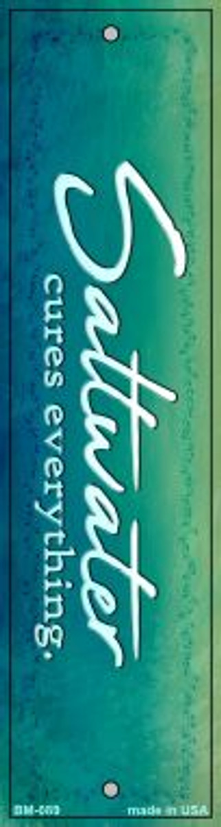 Saltwater Cures All Wholesale Novelty Metal Bookmark BM-089