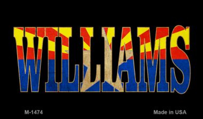Williams Inlayed Flag Wholesale Novelty Metal Magnet M-1474